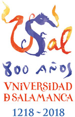 Eighth Centenary webpage, logo designed by Miquel Barceló